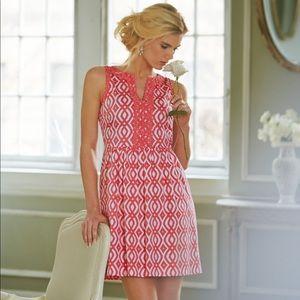 Vineyard Vines Pink Scroll Dress Size 2